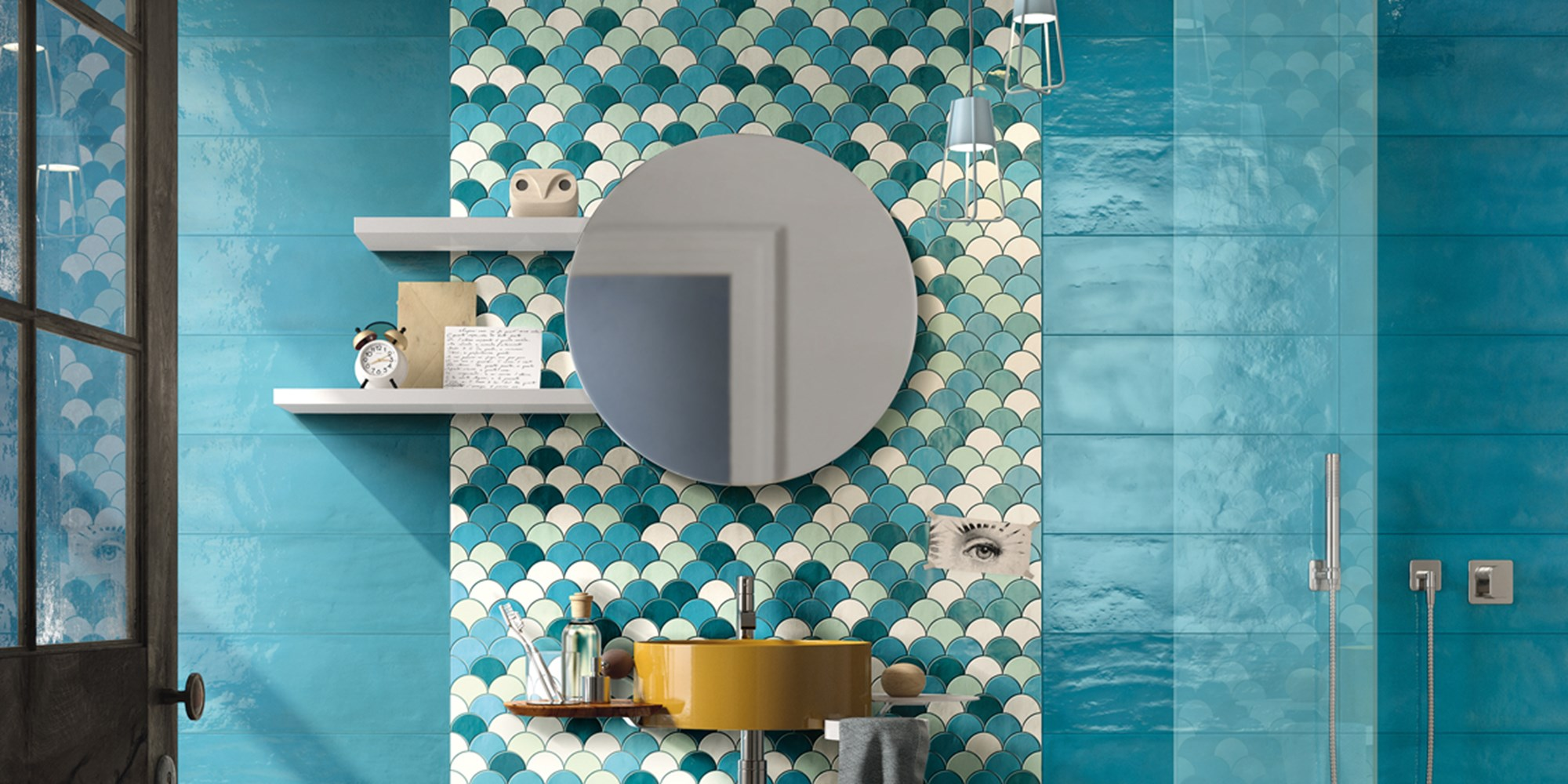 Double fired mosaic Tiles by Imola